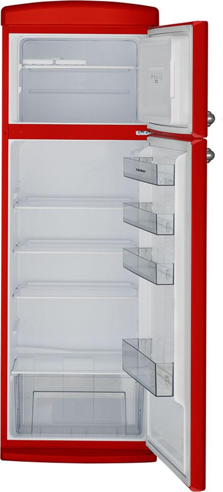Imagen grande de Frigorifico dos puertas  SFR1750R a+ alto 175,5 cm ancho 60,5 cm rojo