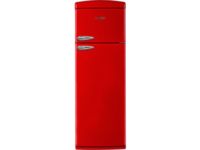 Frigorifico dos puertas  SFR1750R a+ alto 175,5 cm ancho 60,5 cm rojo