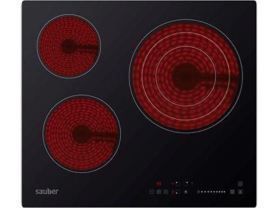 Vitroceramica independiente radiantes  SEV-01 3 zonas coccion ancho 60 cm