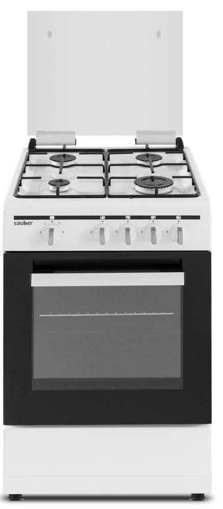 Imagen grande de Cocina de gas  SCW4GN 4 zonas coccion blanca
