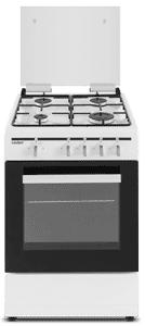 Cocina de gas  SCW41GB 4 zonas coccion blanca