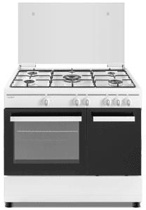Cocina de gas  SCW5GB 5 zonas coccion con portabombonas blanca