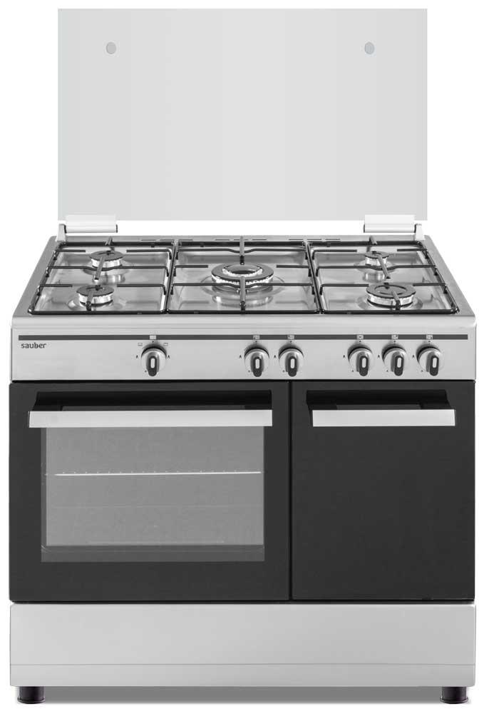 Imagen grande de Cocina de gas  SCI5GB 5 zonas coccion con portabombonas inox