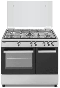 Cocina de gas  SCI5GB 5 zonas coccion con portabombonas inox